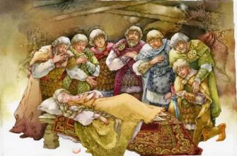Сказка о мёртвой царевне и семи богатырях кратко