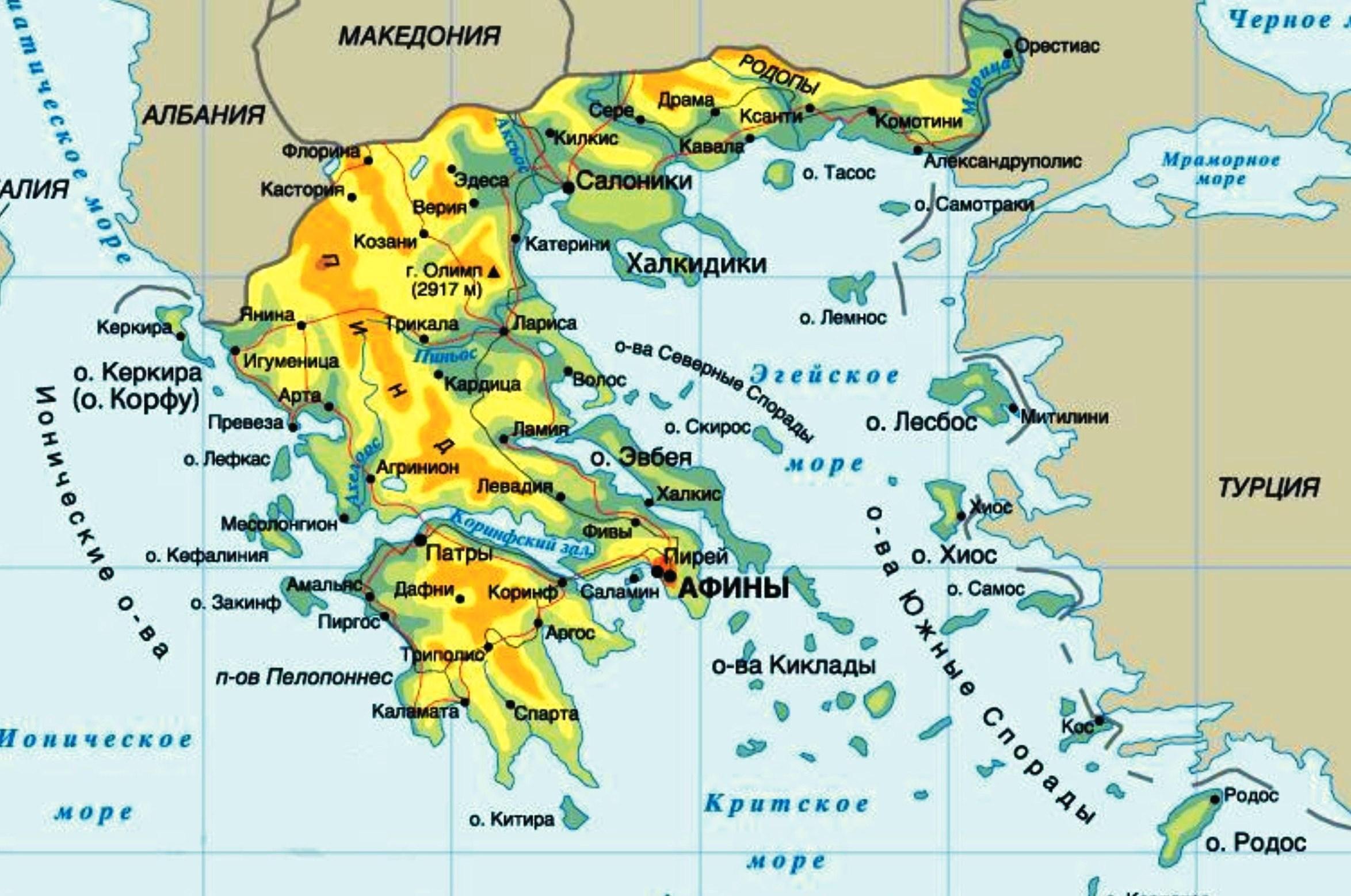 План описания страны Греции