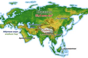 особенности евразии