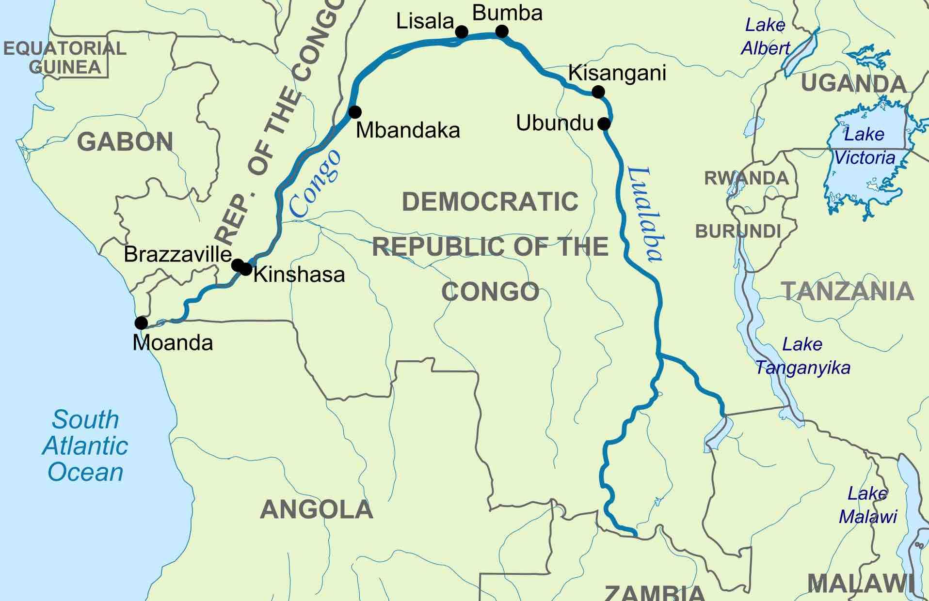 описание реки конго по плану