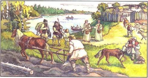 план рассказа жизнь древних славян